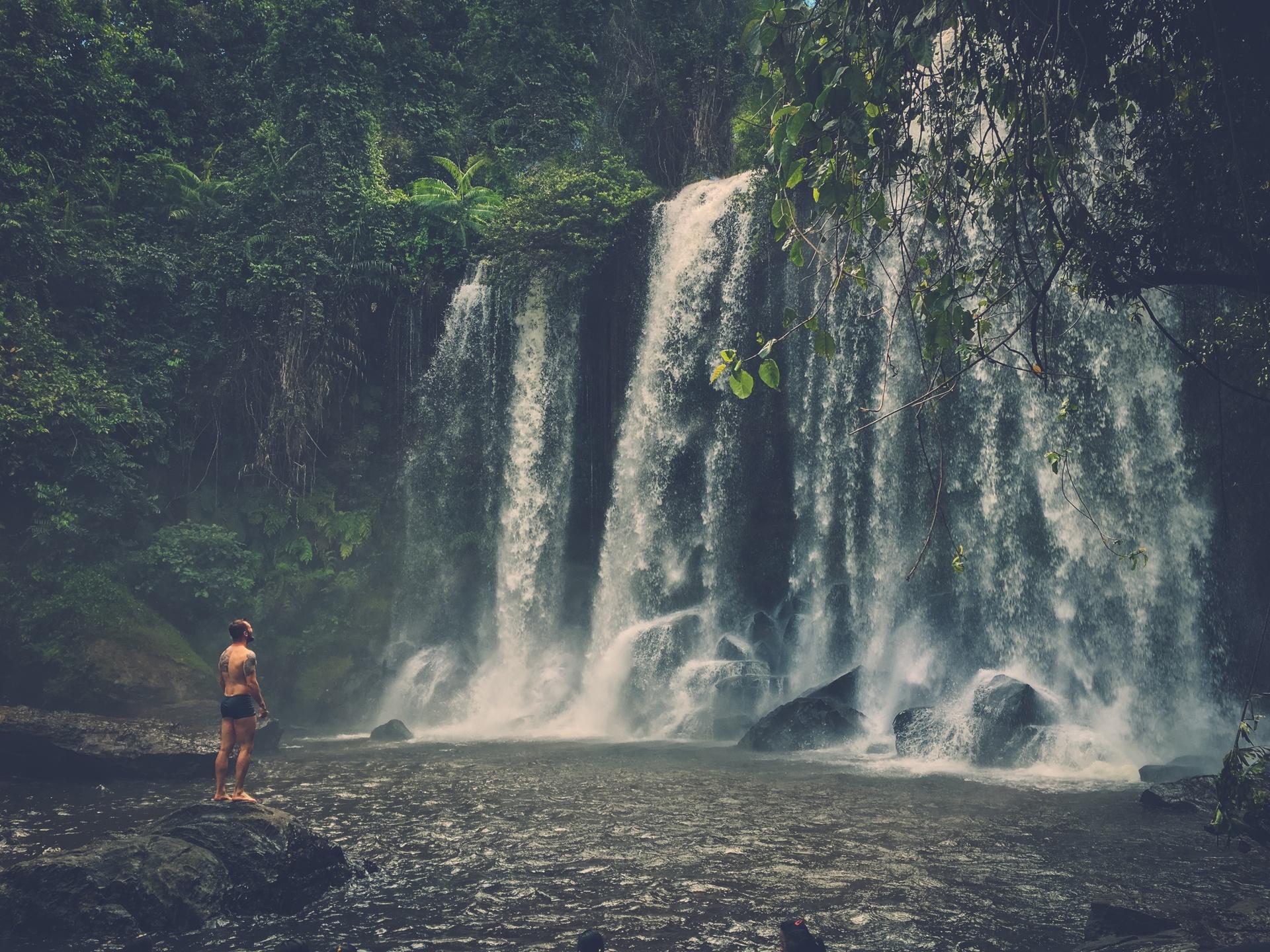 waterfall, Phnom Koulen at Siem Reap, Cambodia
